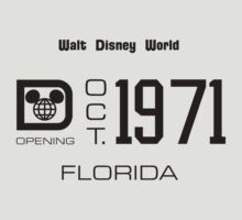 Walt Disney World Preview License Plate Art 1971 Dark by The Department Of Citrus