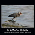 Great Blue Heron Motivational Poster by Val  Brackenridge
