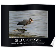 Great Blue Heron Motivational Poster Poster