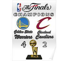 NBA Finals Champions Poster