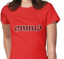 Emma ambigram Womens Fitted T-Shirt
