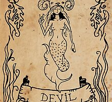Mermaid Tarot: The Devil by SophieJewel