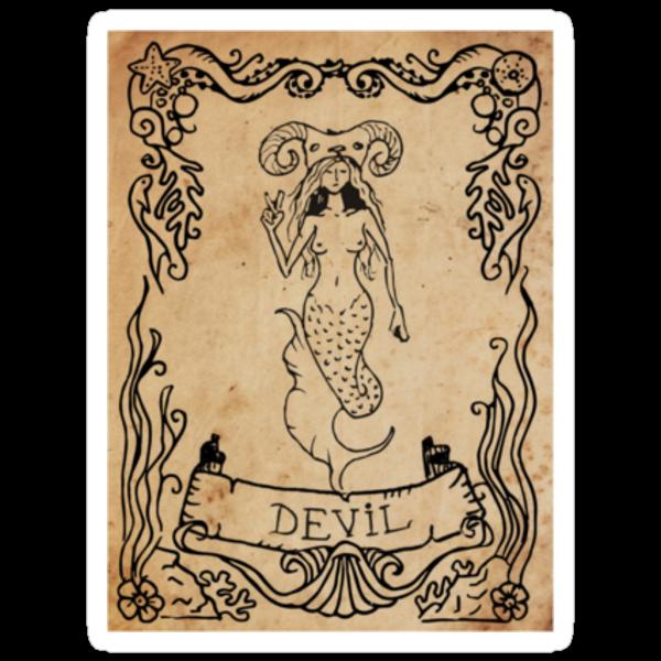 Mermaid Tarot: The Devil by SophieJewel