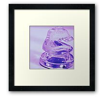 looking into the glass horse  Framed Print