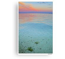 clear water sunset Canvas Print