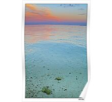 clear water sunset Poster