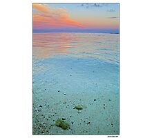 clear water sunset Photographic Print
