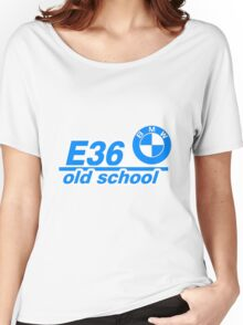 E36 Old School Blue  Women's Relaxed Fit T-Shirt