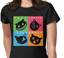 Cat Mode Womens Fitted T-Shirt