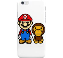 Mario and baby milo iPhone Case/Skin