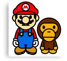 Mario and baby milo Canvas Print