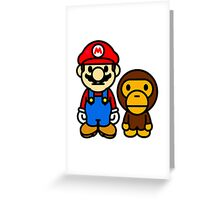 Mario and baby milo Greeting Card