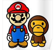 Mario and baby milo Poster