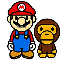 Mario and baby milo Photographic Print