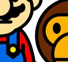 Mario and baby milo Sticker