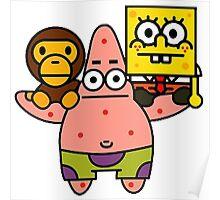 Spongebob baby milo and Patrick star Poster