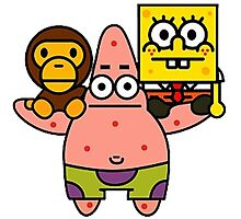 Spongebob baby milo and Patrick star Photographic Print