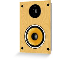 Maple Loudspeaker No Screen Greeting Card