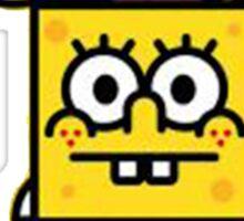 spongebob and baby milo Sticker