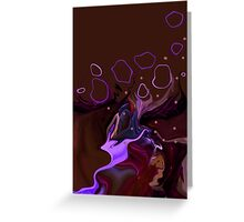 She dreams in lucid colors Greeting Card