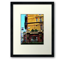 London Corner Pub Framed Print