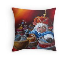 Ali BaaaBaaa and the Forty Sieves Throw Pillow
