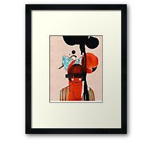girl with one eye Framed Print