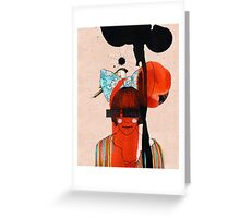girl with one eye Greeting Card