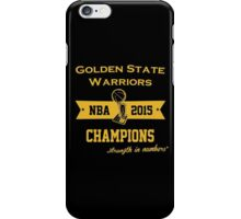 Golden State Warriors Champions or iPhone Case/Skin