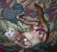 Pinup Ferret by Glenna Walker