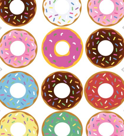 Donut Round Sticker