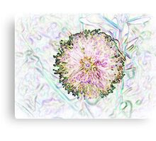 Summer style neon flower Canvas Print