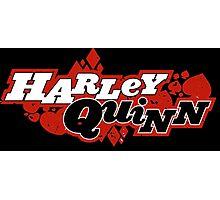 Harley Quinn Comic book Logo Photographic Print