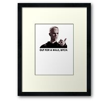 Spike, out for a walk - dark font (TANK/SCOOP TOP) Framed Print