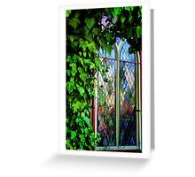 Stained Glass and Ivy Greeting Card