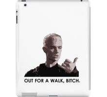 Spike, out for a walk - dark font (TANK/SCOOP TOP) iPad Case/Skin