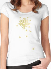 honeycomb bees Women's Fitted Scoop T-Shirt