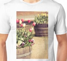 Pink and white tulips Unisex T-Shirt