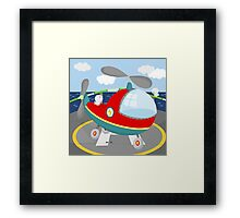 HELICOPTER (AERIAL VEHICLE) Framed Print