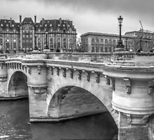 Pont Neuf in Black & White by Michael Matthews