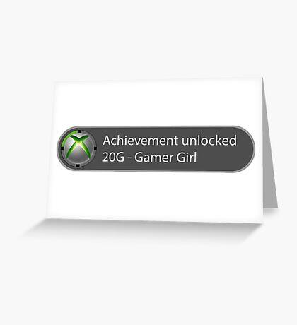 Achievement Unlocked - 20G Gamer Girl Greeting Card