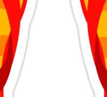 Orange Flip Flops Sticker