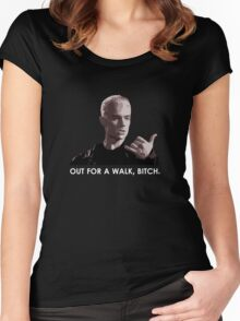 Spike, out for a walk - light font (TSHIRT) Women's Fitted Scoop T-Shirt