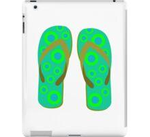 Green Flip Flops iPad Case/Skin