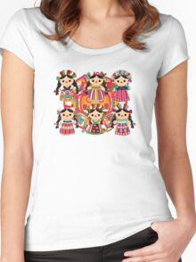 Mexican Dolls Women's Fitted Scoop T-Shirt