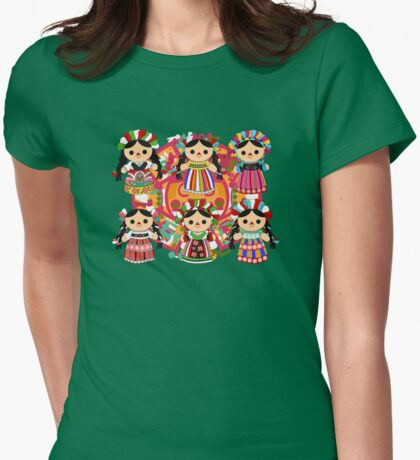 Mexican Dolls Womens Fitted T-Shirt