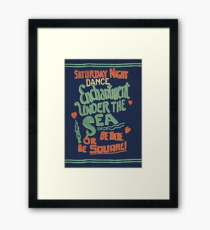 """Enchantment Under the Sea Dance"" Framed Print"