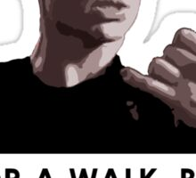 Spike, out for a walk - dark font (TSHIRT) Sticker