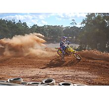Dirt Bike Riding Photographic Print