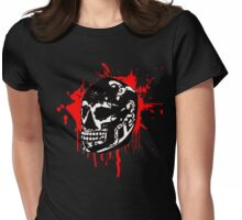 the black skull Womens Fitted T-Shirt